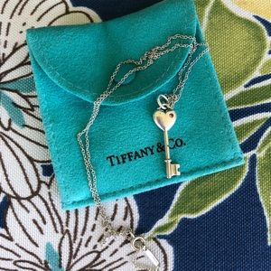 Authentic Tiffany & Co. Key Pendant with Chain